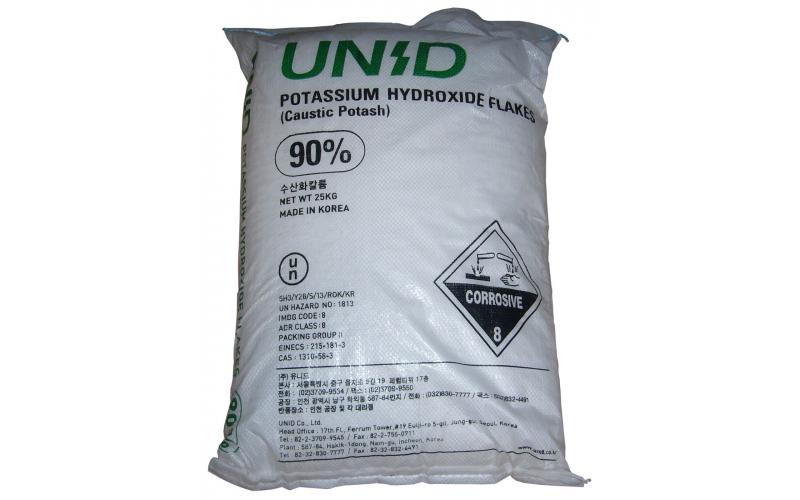 Humik asit ve potasyum hidroksit